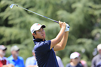 Byeong Hun An (KOR) tees off the par3 13th tee during Thursday's Round 1 of the 2017 PGA Championship held at Quail Hollow Golf Club, Charlotte, North Carolina, USA. 10th August 2017.<br /> Picture: Eoin Clarke | Golffile<br /> <br /> <br /> All photos usage must carry mandatory copyright credit (&copy; Golffile | Eoin Clarke)