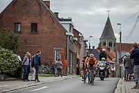 Jeroen Meijers (NED/roompot - Nederlandse Loterij) leading the breakaway group through town. <br /> <br /> <br /> 103th Kampioenschap van Vlaanderen 2018 (UCI 1.1)<br /> Koolskamp &ndash; Koolskamp (186km)