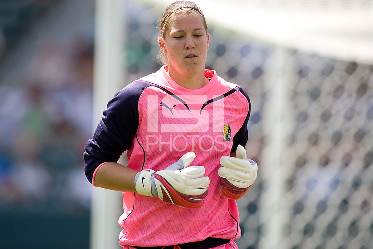 FC Gold Pride goalkeeper Nicole Barnhart. The LA Sol defeated FC Gold Pride of the Bay Area 1-0 at Home Depot Center stadium in Carson, California on Sunday April 19, 2009.  ..  .
