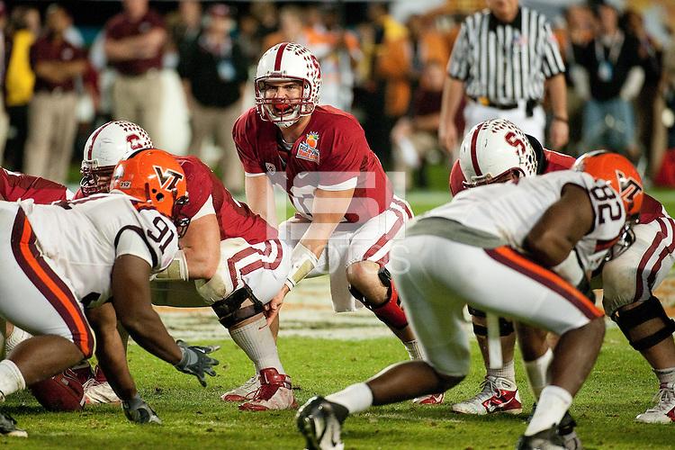 MIAMI GARDENS, FL--Andrew Luck at the Discover Orange Bowl at Sun Life Stadium in Miami Gardens, Florida.