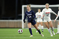 CHAPEL HILL, NC - NOVEMBER 16: Alexis Strickland #12 of the University of North Carolina plays the ball away from MacKenzie Firek #12 of Belmont University during a game between Belmont and North Carolina at UNC Soccer and Lacrosse Stadium on November 16, 2019 in Chapel Hill, North Carolina.
