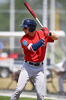 Boston Red Sox center fielder Cole Brannen (31) during a Minor League Spring Training game against the Baltimore Orioles on March 20, 2018 at the Buck O'Neil Complex in Sarasota, Florida.  (Mike Janes/Four Seam Images)