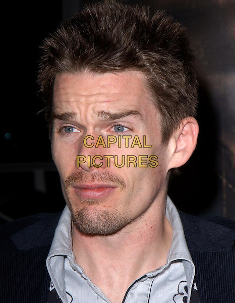 ETHAN HAWKE.World Premiere of Taking Lives held at The Grauman's Chinese Theatre in Hollywood, California .16 March 2004.*UK Sales Only*.funny face, headshot, portrait, beard, goatee, stubble.www.capitalpictures.com.sales@capitalpictures.com.©Capital Pictures.