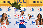 Julian Alaphilippe (FRA) Quick-Step Floors wins Stage 15 and retains the Polka Dot Jersey of the 2018 Tour de France running 218km from Carcassonne to Bagneres-de-Luchon, France. 24th July 2018. <br /> Picture: ASO/Pauline Ballet | Cyclefile<br /> All photos usage must carry mandatory copyright credit (© Cyclefile | ASO/Pauline Ballet)