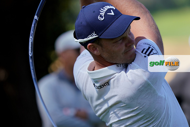 Danny Willett (ENG) in action during the 1st round of The Genesis Invitational, Riviera Country Club, Pacific Palisades, Los Angeles, USA. 12/02/2020<br /> Picture: Golffile | Phil Inglis<br /> <br /> <br /> All photo usage must carry mandatory copyright credit (© Golffile | Phil Inglis)