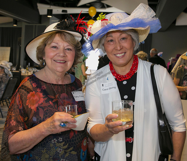Kathy Fraser and Carol Stiving during the Derby Day fundraiser for the Reno Chamber Orchestra at the Renaissance Reno on Saturday, May 4, 2019.