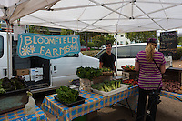Bloomfield farms in Sausalito farmers market, Sausalito, California, USA