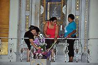 La Virgen de la Altagracia es una advocación católica y además es considerada por los católicos, como la Madre Protectora y Espitirual de la República Dominicana. Su fiesta patronal es el 21 de enero, fecha cual es un día festivo en el país, y muchos fieles devotantes de la virgen van desde todo el territorio nacional hasta su templo en Higüey, a rendirle culto, por eso el nombre de Culto Altagraciano.Fotos: Carmen Suárez/acento.com.do.Fecha: 20/01/2012.