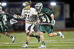 Placentia, CA 05/14/10 - Cole Sutliff (Foothill # 21) and Cole Russert (MC # 15) in action during the Mira Costa vs Foothill boys lacrosse game for the 2010 Los Angeles / Orange County CIF Championship.