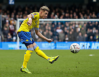Leeds United's Ezgjan&nbsp;Alioski shoots<br /> <br /> Photographer Andrew Kearns/CameraSport<br /> <br /> The Emirates FA Cup Third Round - Queens Park Rangers v Leeds United - Sunday 6th January 2019 - Loftus Road - London<br />  <br /> World Copyright &copy; 2019 CameraSport. All rights reserved. 43 Linden Ave. Countesthorpe. Leicester. England. LE8 5PG - Tel: +44 (0) 116 277 4147 - admin@camerasport.com - www.camerasport.com