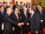 Egyptian President Abdel Fattah al-Sisi meets with the Chairman and CEO of the Japan External Trade Organization (JETRO), Hiroyuki Ishige, in Cairo on March 12, 2019. Photo by Egyptian President Office
