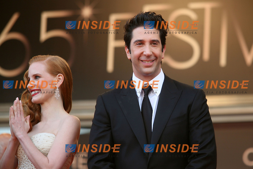 Jessica Chastain, David Schwimmer.Cannes 19/05/2012 65° Festival de Cinema di Cannes.Photo LOIC THEBAUD Panoramic/Insidefoto