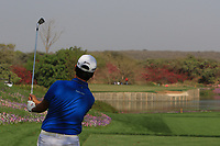 Daniel Im (USA) in action on the 5th during Round 1 of the Hero Indian Open at the DLF Golf and Country Club on Thursday 8th March 2018.<br /> Picture:  Thos Caffrey / www.golffile.ie<br /> <br /> All photo usage must carry mandatory copyright credit (&copy; Golffile | Thos Caffrey)