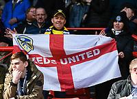 Leeds United fans<br /> <br /> Photographer David Horton/CameraSport<br /> <br /> The EFL Sky Bet Championship - Bristol City v Leeds United - Saturday 9th March 2019 - Ashton Gate Stadium - Bristol<br /> <br /> World Copyright © 2019 CameraSport. All rights reserved. 43 Linden Ave. Countesthorpe. Leicester. England. LE8 5PG - Tel: +44 (0) 116 277 4147 - admin@camerasport.com - www.camerasport.com