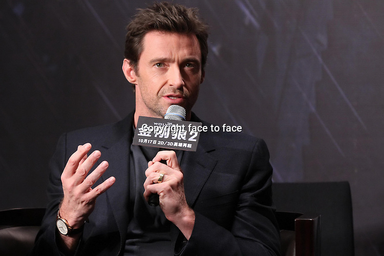 Austrilian actor Hugh Jackman attends press conference of film The Wolverine 2 in Beijing,China on Monday Oct 14,2013.<br /> Credit: Topphoto/face to face<br /> - No rights for China and Taiwan -