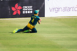 Aubrey Swanepoel of South Africa catches the ball during Day 1 of Hong Kong Cricket World Sixes 2017 Group A match between South Africa vs Pakistan at Kowloon Cricket Club on 28 October 2017, in Hong Kong, China. Photo by Vivek Prakash / Power Sport Images