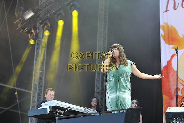 Rumer  (Sarah Joyce) .at Hard Rock Calling concert, Hyde Park, London, England  26th June 2011.performing playing live on stage gig .CAP/MAR.© Martin Harris/Capital Pictures.