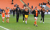 Blackpool lap of honour<br /> <br /> Photographer Kevin Barnes/CameraSport<br /> <br /> The EFL Sky Bet League One - Blackpool v Gillingham - Saturday 4th May 2019 - Bloomfield Road - Blackpool<br /> <br /> World Copyright © 2019 CameraSport. All rights reserved. 43 Linden Ave. Countesthorpe. Leicester. England. LE8 5PG - Tel: +44 (0) 116 277 4147 - admin@camerasport.com - www.camerasport.com