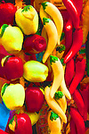 Photo art of colorful chilies and apples