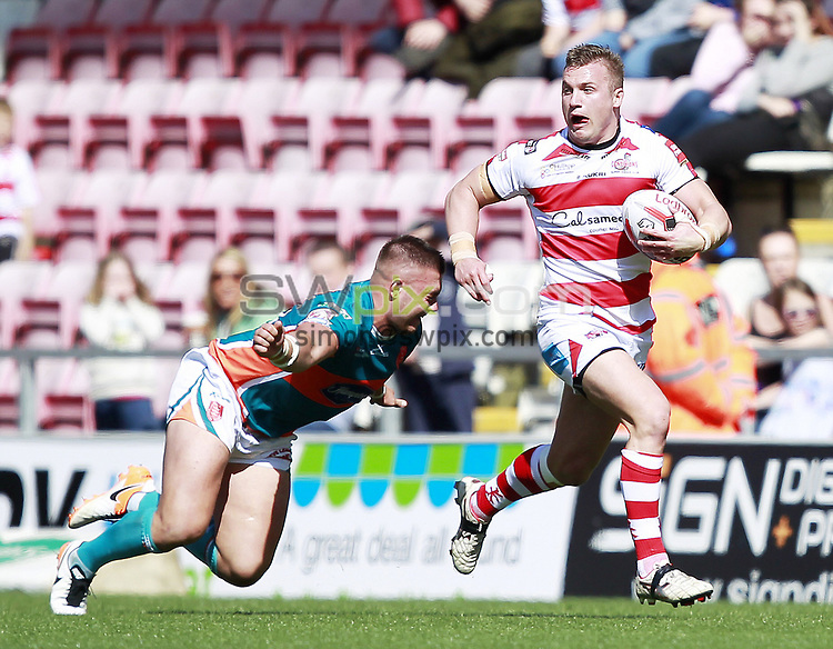 Picture by Chris Mangnall/SWpix.com - 21/04/2017 - Rugby League - Ladbrokes Challenge Cup - Leigh Centurions v Hull KR - Leigh Sports Village, Leigh , England <br />