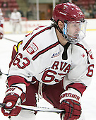 Colin Blackwell (Harvard - 63) - The Harvard University Crimson defeated the visiting Colgate University Raiders 7-4 (EN) on Saturday, February 20, 2016, at Bright-Landry Hockey Center in Boston, Massachusetts,