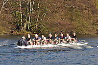 0203 .BED-Wisbey .MasE.8+ .Bedford RC. Wallingford Head of the River. Sunday 27 November 2011. 4250 metres upstream on the Thames from Moulsford railway bridge to Oxford Universitiy's Fleming Boathouse in Wallingford. Event run by Wallingford Rowing Club..