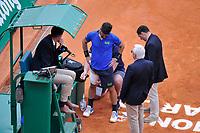 Fabio Fognini (Italie) - medicato alla coscia <br /> Monaco 21/04/2019 Monte Carlo Country Club Panoramica <br /> Tennis Torneo ATP Montecarlo 2019 <br /> Foto Norbert Scanella / Panoramic / Insidefoto <br /> ITALY ONLY