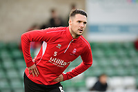 Lincoln City's Jason Shackell during the pre-match warm-up<br /> <br /> Photographer Chris Vaughan/CameraSport<br /> <br /> Emirates FA Cup First Round - Lincoln City v Northampton Town - Saturday 10th November 2018 - Sincil Bank - Lincoln<br />  <br /> World Copyright © 2018 CameraSport. All rights reserved. 43 Linden Ave. Countesthorpe. Leicester. England. LE8 5PG - Tel: +44 (0) 116 277 4147 - admin@camerasport.com - www.camerasport.com