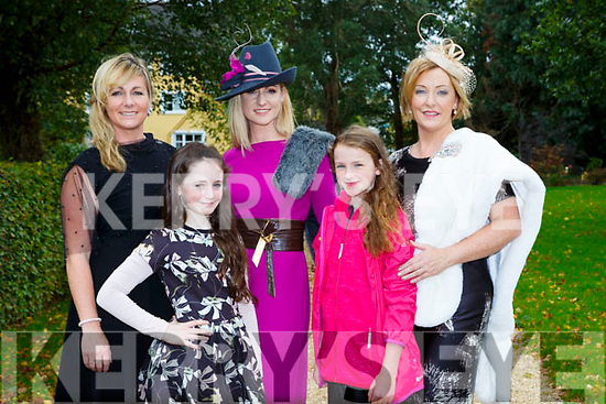 Clodagh Irwin Owens, Jacquelyn Owens, Emir O'Shea, Sarah Kennedy and Eileen   at the Killarney Rotary afternoon tea fashion show in the Malton Hotel on Saturday,
