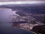 Areal view of waterfront, Toronto, Ontario, Canada, autumn color, colour, fall<br />