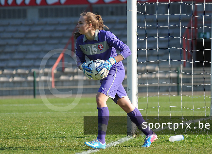 Germany U19 - Czech Republic U19 : <br /> <br /> Czech Republic U19 : Barbara Votikova<br /> <br /> foto Dirk Vuylsteke / Nikonpro.be