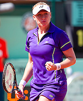 ELENA BALTACHA (GBR) ..Tennis - Grand Slam - French Open- Roland Garros - Paris - Sat May 26th 2012..© AMN Images, 30, Cleveland Street, London, W1T 4JD.Tel - +44 20 7907 6387.mfrey@advantagemedianet.com.www.amnimages.photoshelter.com.www.advantagemedianet.com.www.tennishead.net