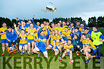 Brosna V St. Senan's : St. Senan's captain Jason Browne throws the cup in the air as they win their second  final in a row  in the  North Kerry  Bernard O'Callaghan Senior Championship Final sponsored by McMunn's Bar & Restaurant, Ballybunion held in O'Rahilly Park, Ballylongford on Sunday last.