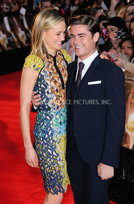 WWW.ACEPIXS.COM . . . . .  ..... . . . . US SALES ONLY . . . . .....April 23 2012, London....Actors Zac Efron and Taylor Schilling at 'The Lucky One' European premiere at the Chelsea Cinema on April 23, 2012 in London, England.....Please byline: FAMOUS-ACE PICTURES... . . . .  ....Ace Pictures, Inc:  ..Tel: (212) 243-8787..e-mail: info@acepixs.com..web: http://www.acepixs.com
