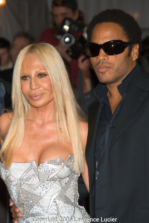 Donatella Versace and Lenny Kravitz