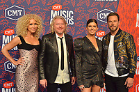 NASHVILLE, TN - JUNE 5: Kimberly Schlapman, Phillip Sweet, Karen Fairchild, and Jimi Westbrook of Little Big Town attend the 2019 CMT Music Awards at Bridgestone Arena on June 5, 2019 in Nashville, Tennessee. (Photo by Tonya Wise/PictureGroup)