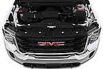Car Stock 2020 GMC Sierra-3500HD - 4 Door Pick-up Engine  high angle detail view