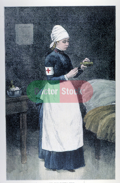 Red Cross hospital nurse