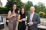 ISPS Handa Wales Open 2012.Terry M's Restaurant Opening.Kelly Vanner, Mia MacNamara & Glen Lewis..01.06.12.©Steve Pope