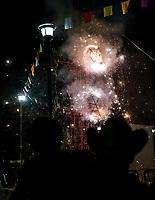Fuegos artificiales  durante el , IV Festival Maria Bonita en Quiriego, Sonora.