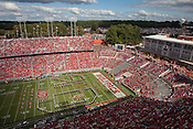 Copyright Justin Cook | September 28, 2013 - The view from the top of Carter Finley Stadium during the NC State Central Michigan game.
