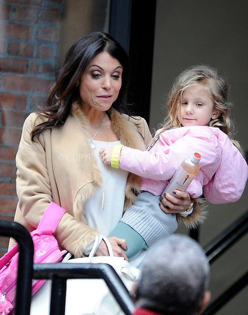 WWW.ACEPIXS.COM<br /> <br /> January 22 2015, New York City<br /> <br /> TV personality Bethenny Frankel picks up her daughter Bryn Hoppy from school on January 22 2015 in New York City<br /> <br /> By Line: Curtis Means/ACE Pictures<br /> <br /> <br /> ACE Pictures, Inc.<br /> tel: 646 769 0430<br /> Email: info@acepixs.com<br /> www.acepixs.com