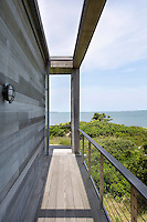 wooden balcony with sea view
