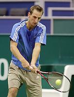 6-2-10, Rotterdam, Tennis, ABNAMROWTT, Thiemo de Bakker in de training