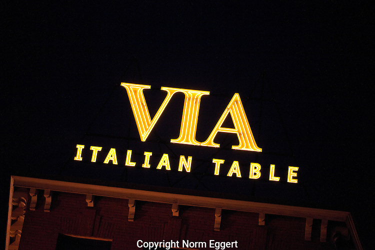 The VIA Restaurant on Shrewsbury Street in Worcester, MA