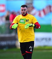 Lincoln City's Grant Smith during the pre-match warm-up<br /> <br /> Photographer Andrew Vaughan/CameraSport<br /> <br /> The EFL Sky Bet League Two - Lincoln City v Northampton Town - Saturday 9th February 2019 - Sincil Bank - Lincoln<br /> <br /> World Copyright &copy; 2019 CameraSport. All rights reserved. 43 Linden Ave. Countesthorpe. Leicester. England. LE8 5PG - Tel: +44 (0) 116 277 4147 - admin@camerasport.com - www.camerasport.com