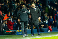 25th February 2020; The Hawthorns, West Bromwich, West Midlands, England; English Championship Football, West Bromwich Albion versus Preston North End; West Bromwich Albion Manager Slaven Bilic and Preston North End Manager Alex Neil shake hands after the final whistle