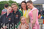0059.Having a great time , despite the weather at Barbeque held in aid of The RNLI and Churchill Ladies Football at Fenit Strand on Sunday were l/r Clodagh Vesy, Amy Kelly, Jennifer Williams, Sarah O'Carroll and Laura O'Carroll in the front.............   Copyright Kerry's Eye 2008
