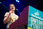 Jess Serrante from Rainforest Action Network presents at Powershift 2013 in Pittsburgh, PA. (Photo by: Robert van Waarden)