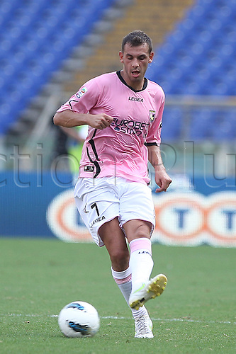 25.09.2011 Rome Italy.   ilicic in action during the Serie A match between S.S. Lazio and Palermo, played in the Stadio Olimpico Rome.
